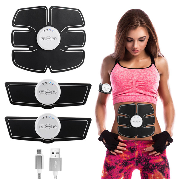 2018 New EMS Abdominal Muscle Stimulator Exerciser Trainer Device Muscles Intensive Training Weight Loss Slimming Massager Machine