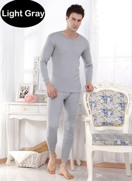 2pcs Hot Men's Thermal Underwear Suits Top Bottom Fur Fleeced Long Johns Waffle Knit Keep Warm Undershirt Leggings Run Small 10012 1 Set