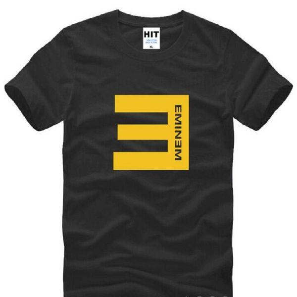 Anti E Eminem Cool Printed T Shirts Men Summer Short Sleeve O-Neck Cotton Men's T Shirt Rock Music DJ Mens Top Tees Fans Clothes