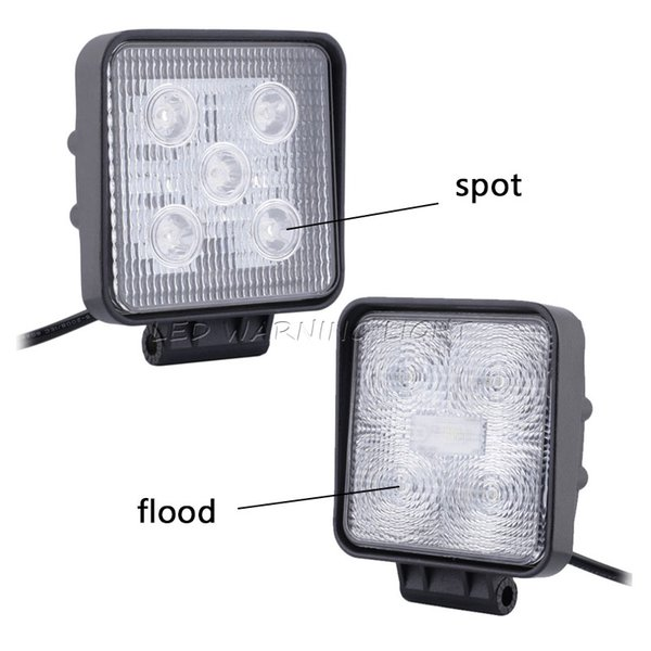 100pcs 4x4 15W Tractor Car LED headlight spot flood work light driving fog lamp for farm agriculture excavator crane truck mining equipment
