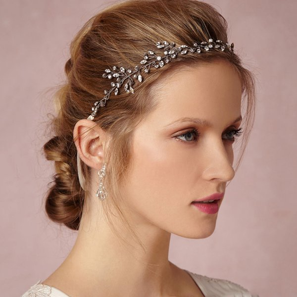 1PC Silver Crystal Hair Vine Wedding Bridal Headband Hair Jewelry