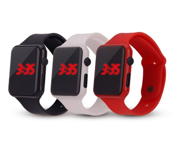 Digital watch for Students Boys Girls LED watch Silicone strap Rubber wrist sport watch 11 colour