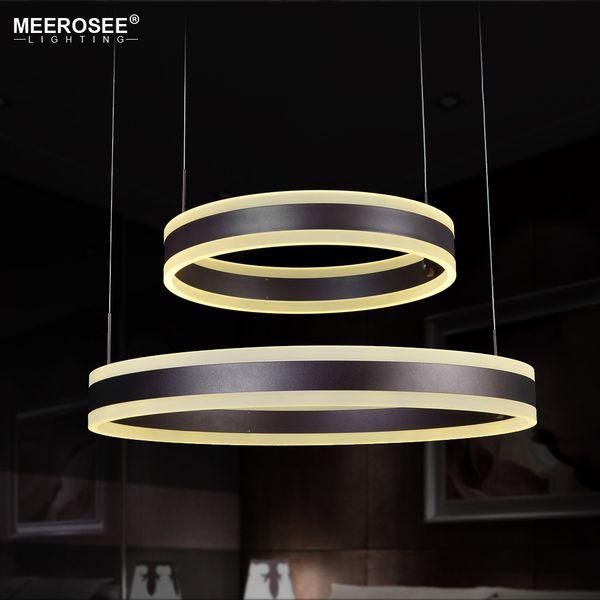 Newest 2 Rings LED Pendant Lights Modern Pendant Lamp For Foryer Dining room LED Lustre Hanging Lighting
