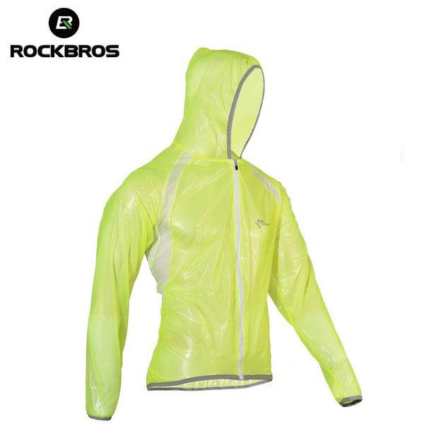 ROCKBROS Waterproof Hiking Jackets TPU Raincoat Cycling Jersey Rain Coat Bike Bicycle Jersey Fishing Men Women Camping Jackets Y1893006