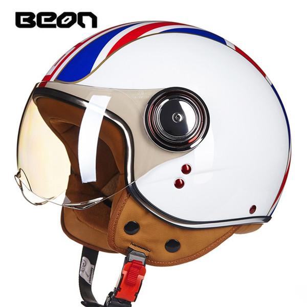 vintage motorcycle helmets Jet ruby helmet Protective Gears 3/4 half helmet Scooter B110B ECE DOT open face capacete
