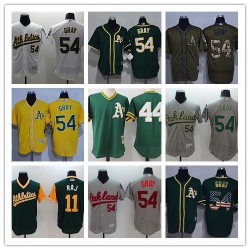 Männer Frauen Jugend Oakland benutzerdefinierte Leichtathletik Jersey # 54 Sonny Grey 11 RAJ Green Baseball-Trikots