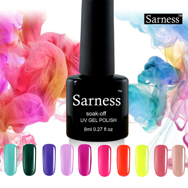 Sarness Brand UV Gel Nail Polish Beautiful Professional Nails Beauty Color Nail Gel Polish Soak Off Permanentes De Uv Varnish