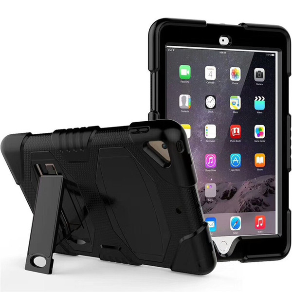 Pepkoo Defender Military Stand Water dirt shock Proof Case Cover Plastic + Silicone for ipad 2 3 4 iPad Air 2 air iPad