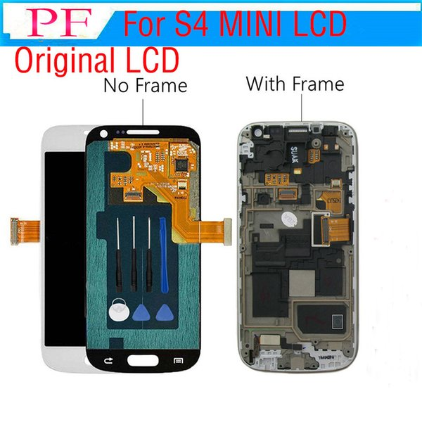 3 pieces Original For Samsung Galaxy S4 Mini i9190 lcd assembly digitizer + Touch Screen complete Assembly + free Repair tools
