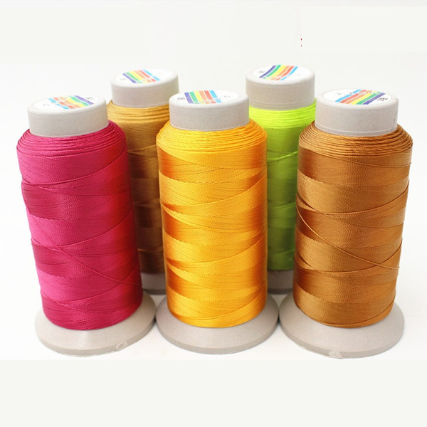 New design 24colors 100% nylon cord 0.35mm sewing machine thread for leather PU jeans DIY high quality free shipping