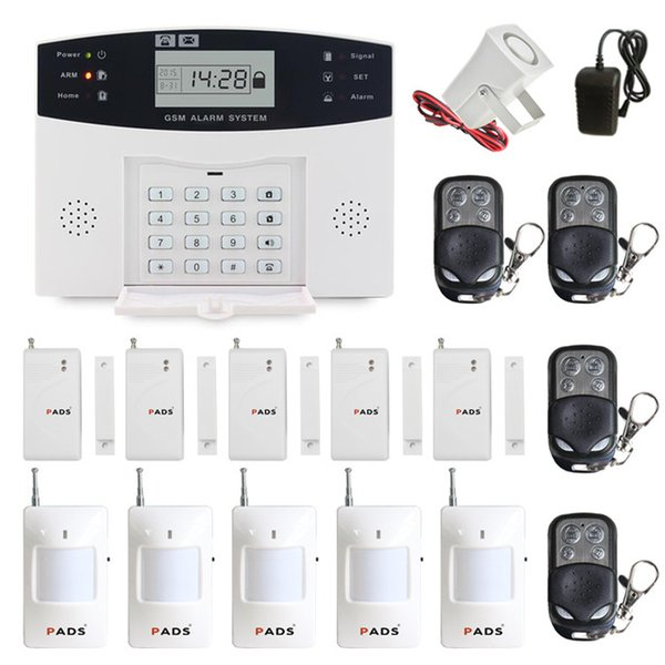 106 zone LCD tastatur kabelgebundene drahtlose GSM alarmanlage home security set Voice Guide zwei-wege-gegensprechanlage (verschiedene set mit unterschiedlichen preis)