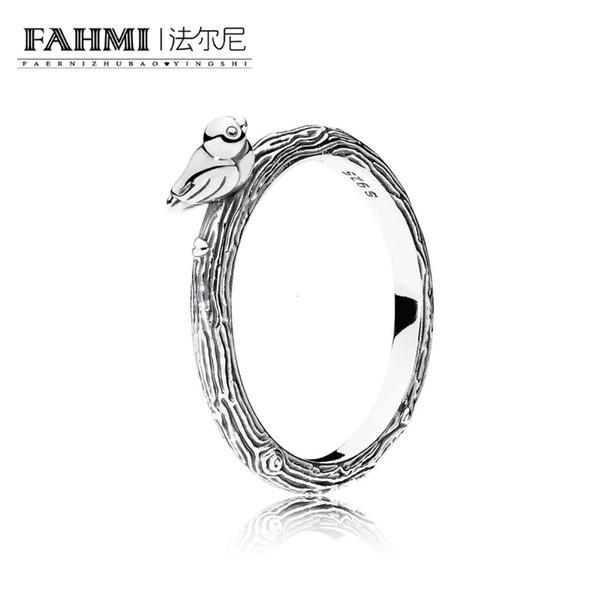 FAHMI 100% 925 Sterling Silver 1:1 Original Authentic Charm 197103 Temperament Fashion Glamour Retro Ring Wedding Women Jewelry