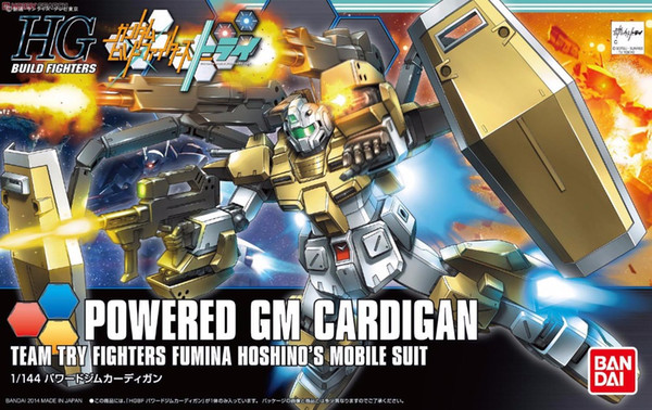 1PCS Bandai HG Build Fighters HGBF 019 1/144 Powered GM Cardigan Gundam Mobile Suit Assembly Model Kits Anime action figure