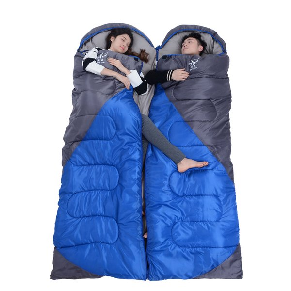 2.2 kgs Waterproof Camping Sleeping Bag Winter Outdoor Splicing Double Sleeping Bags For Lovers Sleep Bag For Women Cold Weather