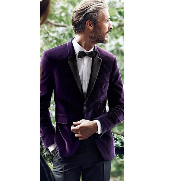 Vestes de nouveaux hommes personnalisés couper le velours de revers hommes hommes personnalisation de meilleur homme de mariage