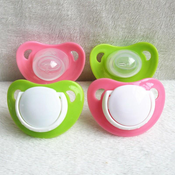 Cute Newborn Child Pacifier Silicone Pacifier Clip Holder Pacifier LSRG