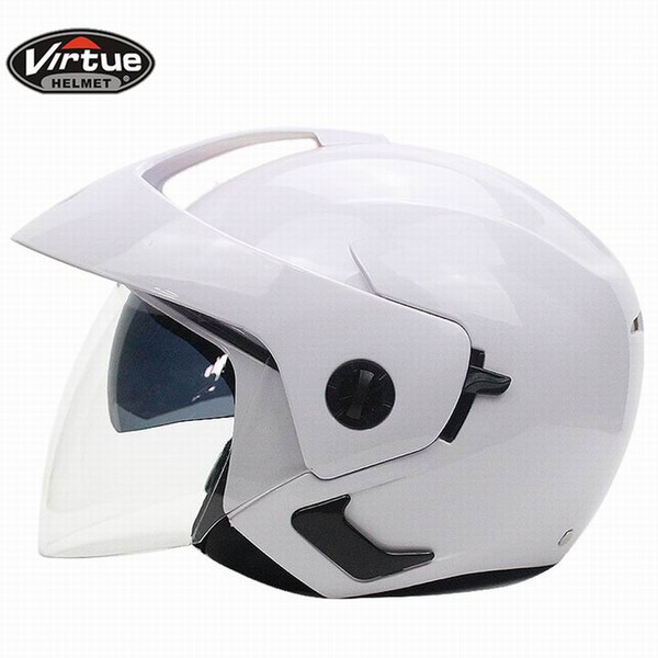 Motorrad vintage helme Dual lens Helm Motorrad Offenes Gesicht Capacete Para Motocicleta Cascos Para Moto Racing helme X