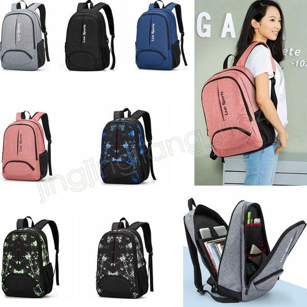 7 colori Zaino unisex oudoor campeggio escursionismo bagaglio da viaggio zaino sacchetto di scuola studente universitario coreano sacchetto del computer aziendale GGA583 5 pz