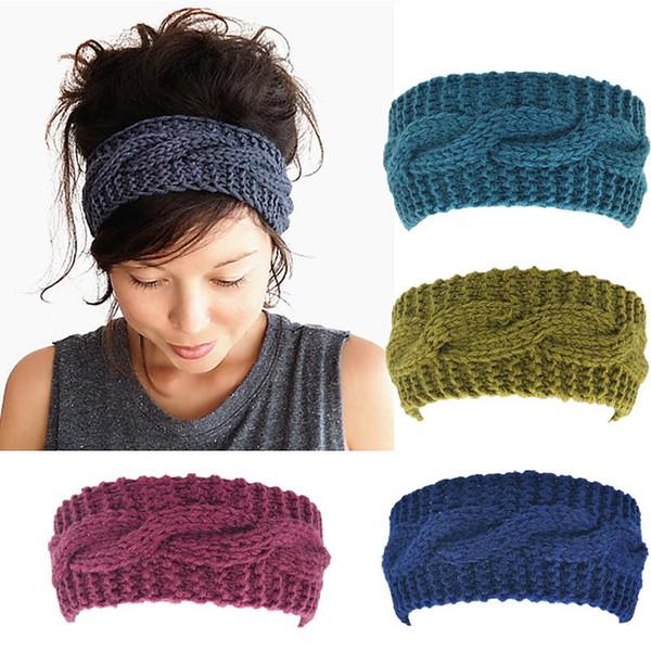 Großhandel Frauen Häkeln Turban Stirnband Winter Warm Elastisches Haarband Kopf Wickeln Bandage Stirnbänder Headwear Mädchen Haarschmuck Von Super003
