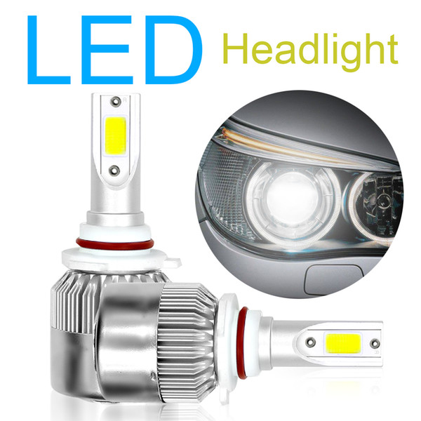 2pcs H7 9005 H10 HB3 9006 HB4 H4 HB2 9003 Car Headlight Bulbs Kit C6 10800LM 6000K 120W COB LED Auto Head Light Lamp