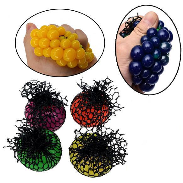 Black net White Net decompression grape ball colored ball vent ball squeeze Le vent toys adult children gift