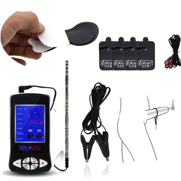 3in1 Terapia Elétrica Brinquedos Uretral Plugue Eletrodo Pad Corpo Massageador Clitóris Clitóris Clips de Estimulador de Mama Brinquedos para Casais I9-1-213