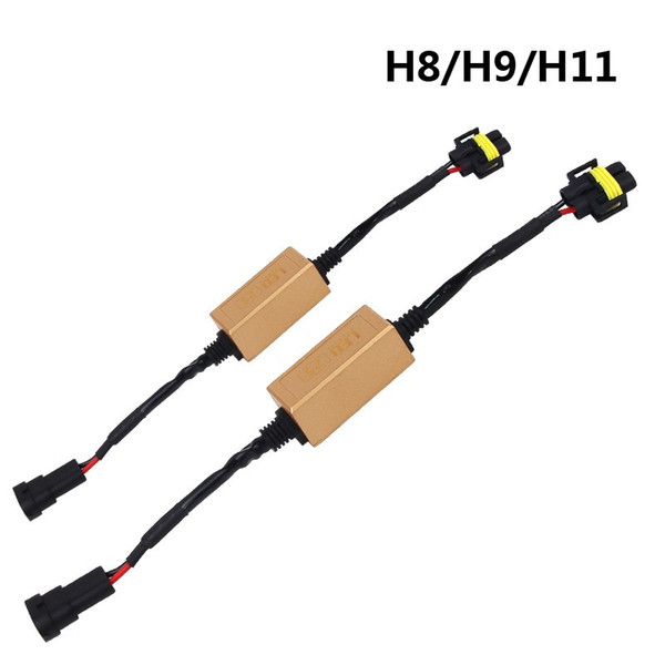 2Pcs H4/H7/H8/H11/H13/HB3(9005)/HB4(9006) Canbus Wiring Harness Adapter LED Car Headlight Bulb Auto Headlamp Fog Light CANBUS