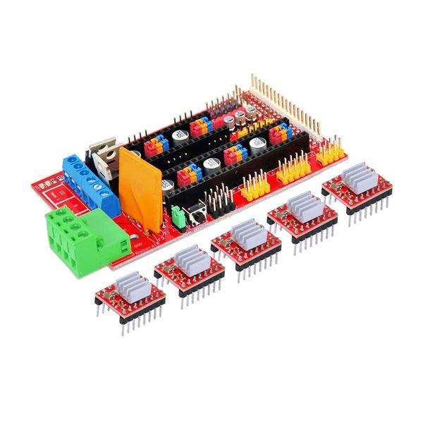 KEYES Kit pannello di controllo stampante 3D RAMPS 1.4 + 4988 Modulo driver motore passo-passo con dissipatore di calore