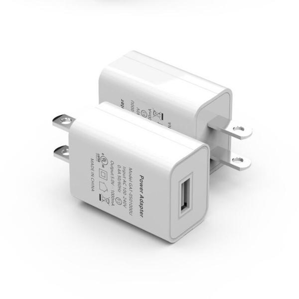 UL FCC Certifié US Plug 5 V 1A 2A USB Rapide Chargeur Voyage Mur Chargeur Mobile Téléphone Rapide Chargeur Adaptateur de Puissance pour iphone samsung