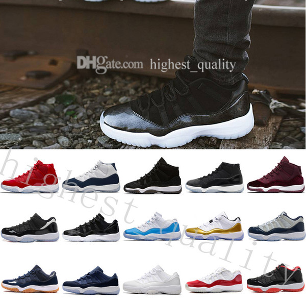 New 11 GS Basketball Shoes Velvet Heiress Night Maroon Wine Red for mens High Quality Original Outdoor Sports Sneakers US 5.5-13 Eur 36-47