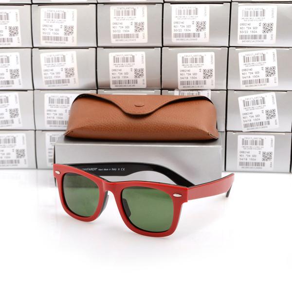 Rote und schwarze Rahmen-Grün-Objektiv 50mm