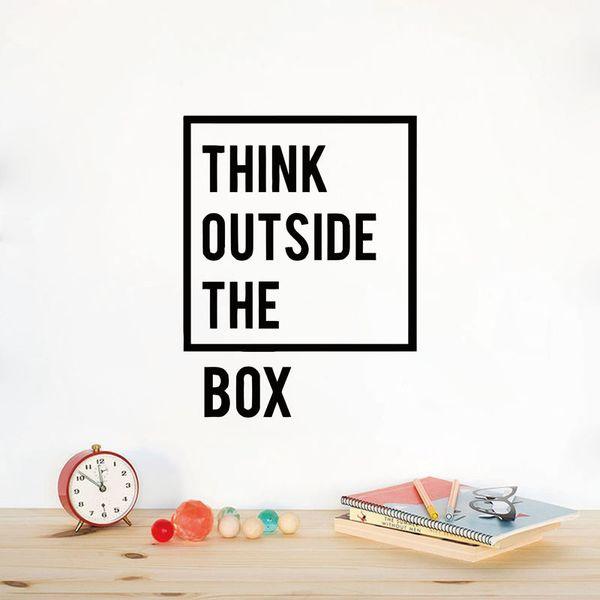 Pensée créative Citations inspirantes Sticker mural Motivation Vinyle Stickers muraux pour le salon Salle d'étude Home Office Decor