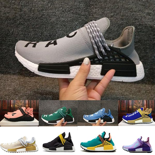 3a3bbe8be 2018 Pharrell Williams HU NMD Sneakers Trail Human Race Mens Women Running  Trainers Shoes drop shipping