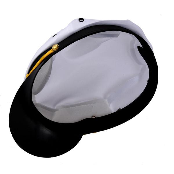 EAS White Navy Sailor Cap Captain Marino Marin Uniform Cotton Color White Black