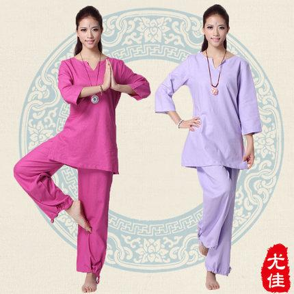 Ropa Womens Meditation clothing fitness Yoga sets plus size clothes for women sportswear set Buddhist S-XXL pants dance yoga