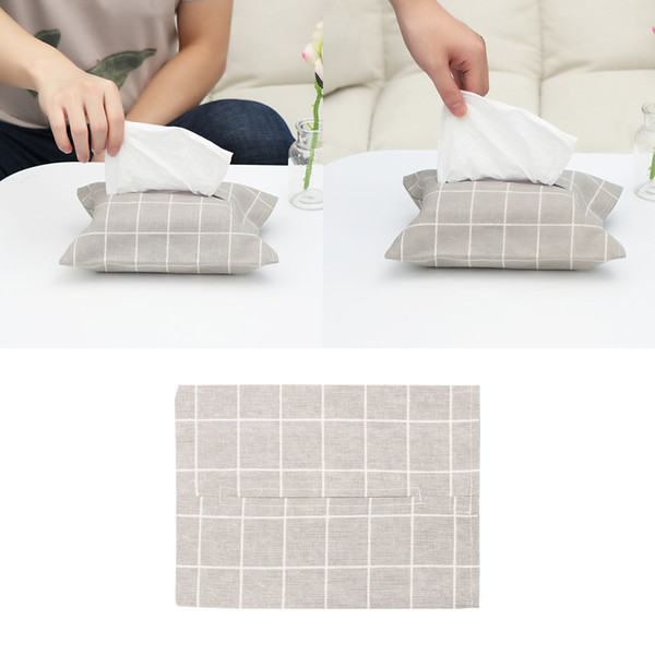 1PC Paper Tissue Storage Box Bag Linen Jewelry Organizer Napkin Holder Tissue Box Bathroom Restaurant Cover Bag Home Decoration