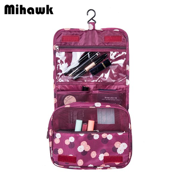 Mihawk Women s Men s Hanging Cosmetic Bag Makeup Case Travel Organizer Wash  Pouch Beauty Products Toiletry Storage d551fd104feab