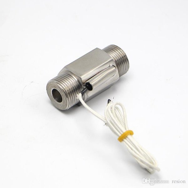"""Wholesale-110V 3/4"""" DN20 Male Stainless Steel Metal Shell Liquid Water Flow Sensor Switch ZFS-02S"""