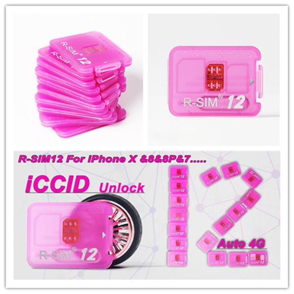 Rsim 12 r sim 12+ RSIM12 + iphone entsperren Karte IOS 11 R-sim11 R-sim11 + IOS11 für iPhone 8 iPhone 7 + i6 entsperrt 4G CDMA GSM-Verkauf