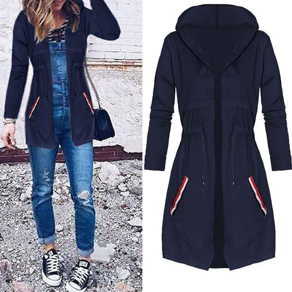 thin trench coat for Women Windbreaker Hooded 2017 autumn winter Lightweight Waterproof Sun protection casual Rain coat
