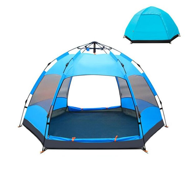 5-8 Person Portable Camping Tent Automatic Pop Up Tents Rainproof Anti-UV Breathable Double Layer Camping Tent for Outdoor Hiking Tent