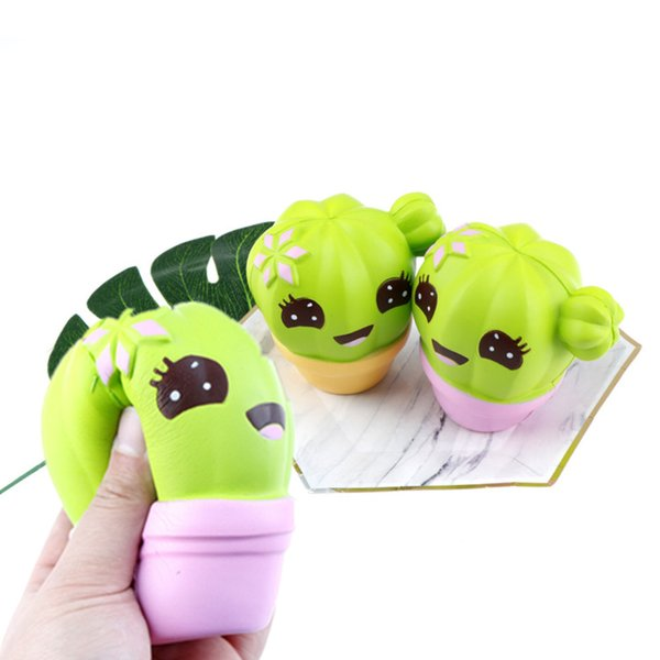 Squishies Cactus Scented Squeeze Healing Squishy Slow Rising Soft Stress Relief Toys Phone Straps Keychain Gift Craft Decors