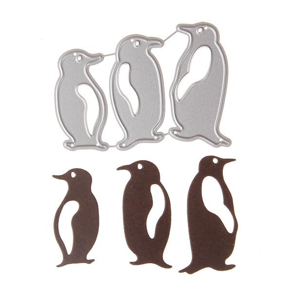 Cusomized 3pcs Penguin set Metal Carbon Steel Cut Die Stencil For DIY Scrapbooking Album Paper Card Photo Decorative Craft