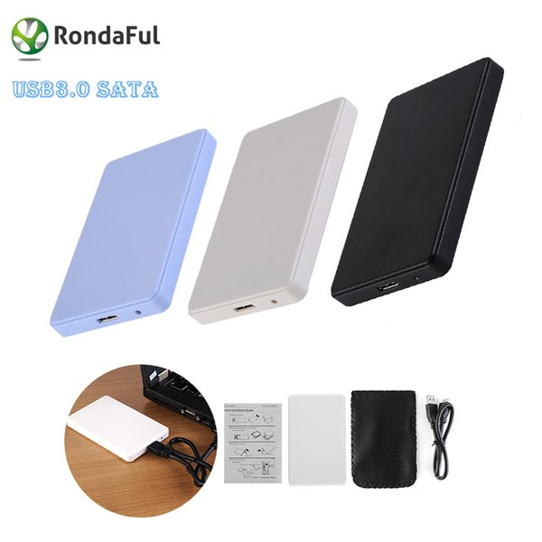 """Wholesale-3 Colors 2.5"""" USB 3.0 SATA HD Box 1TB HDD Hard Drive External Enclosure Case Support Up to 2TB Data transfer backup tool For PC"""
