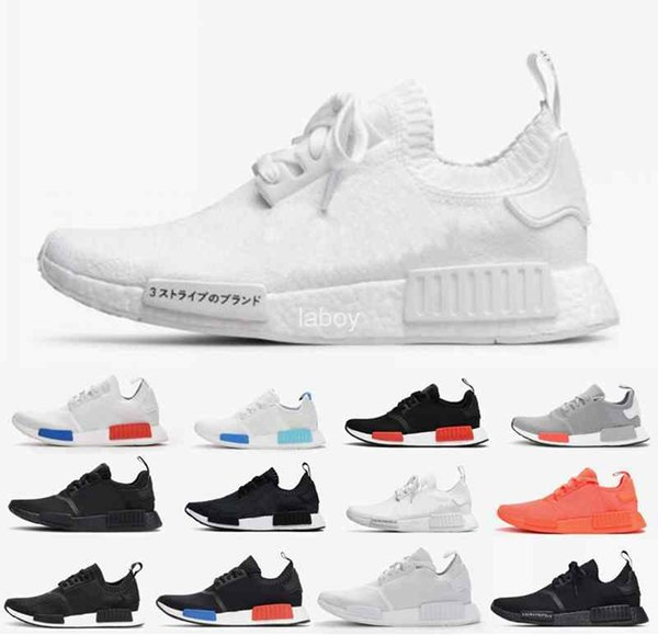 9c5d48ea6 2018 New Wholesale R1 ShoesJapan red gray NMD Mens Womens Running shoes R1  Primeknit PK Lown Sneakers designer Brand Zapatos Sport Shoes