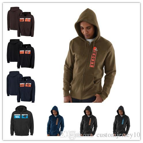 new arrivals 7bcf7 774bc 2018 Men'S Carolina Panthers Chicago Bears Cincinnati Bengals Cleveland  Browns Hook And Ladder Full Zip Hoodie Outdoor Jacket From Qualityjersey03,  ...