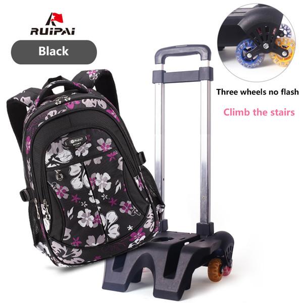 RUIPAI Kids Backpack With Wheel Baby's Bags Trolley School Bags Backpack Schoolbag Waterproof students For Girls and Boys