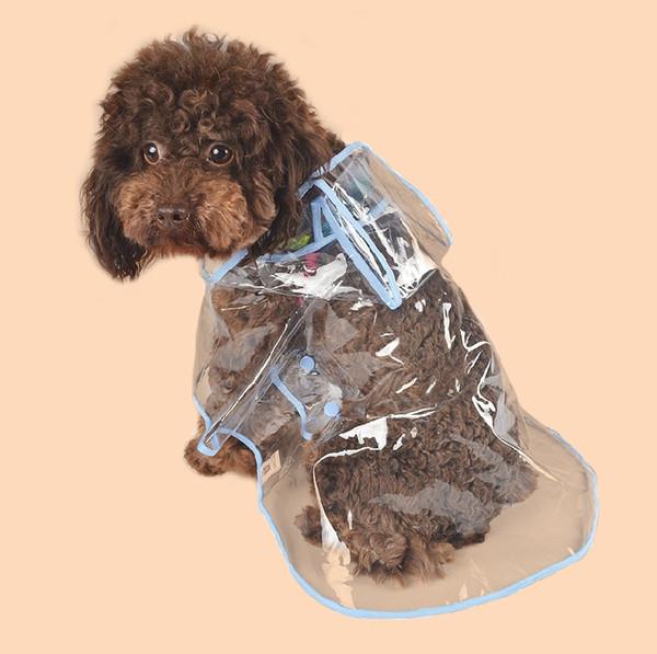Pet Dog Apparel Dogs Supliers Transparent Waterproof Raincoat Rain Cape Summer Pet Clothes