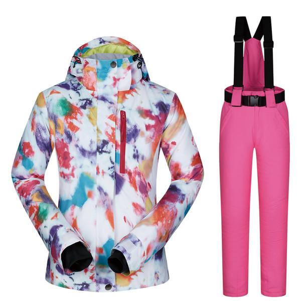 Marques Thermique Pantalons Femmes Coupe Neige Ski Vestes Ensemble De Acheter Et Extérieure Respirant Hiver Vent Imperméable Combinaison OkuiTXZP