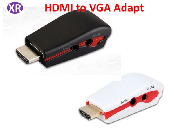 Hdmi to VGA Adapter for Power and Audio HDMI A Male Adapter With 3.5mm audio cable for PC to HDTV Projecteor DHL /576i/480p/576p/720p/1080p